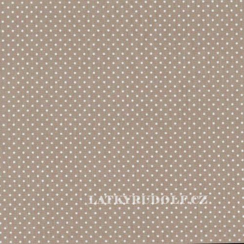 Látka Puntík 2mm šedobéžový piselli 101167