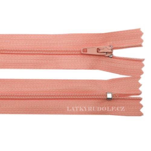 Zip spirálový 3mm nedělitelný 148K-lososová
