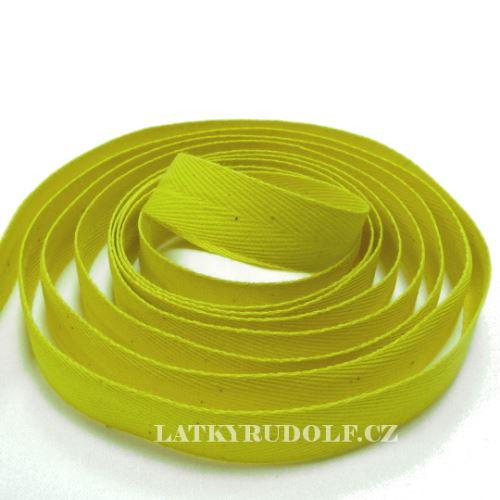 Keprovka - tkaloun šíře 14mm 4202-žlutá