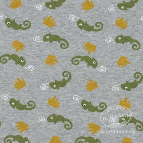 Látka Teplákovina chameleoni Camlijo 145083