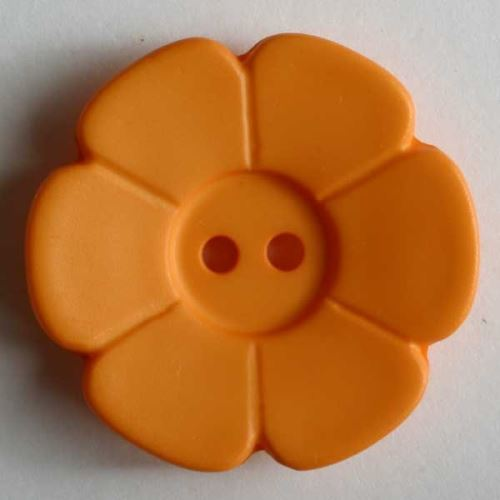 Knoflík Dill 15mm kytička oranžová 219100