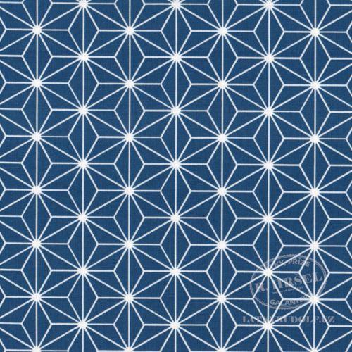 Látka Hvězdice Casual modré (navy) 103517