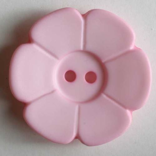 Knoflík Dill 15mm kytička sv.růžová 219093