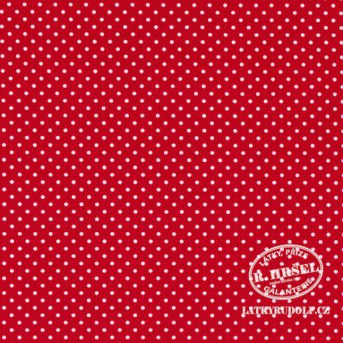 Látka Puntík 2mm na červené 103145