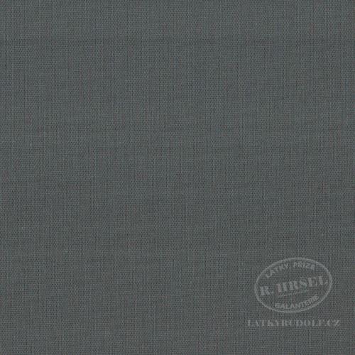 Látka Bavlněný kanvas tmavě šedý 125067