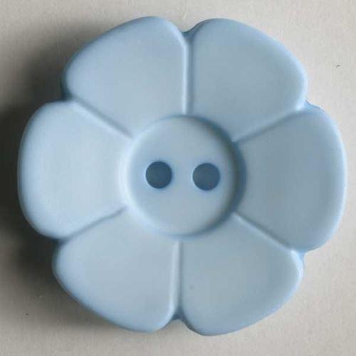 Knoflík Dill 28mm kytka sv.modrá 289082