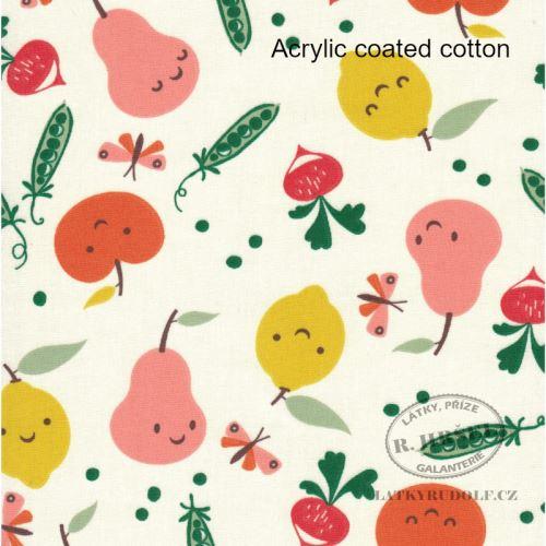 Laminovaná bavlna ovoce a zelenina Veggy 133000