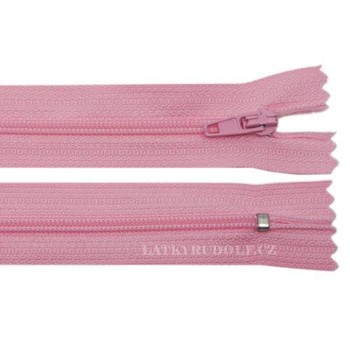 Zip spirálový 3mm nedělitelný 60cm 133K-růžová