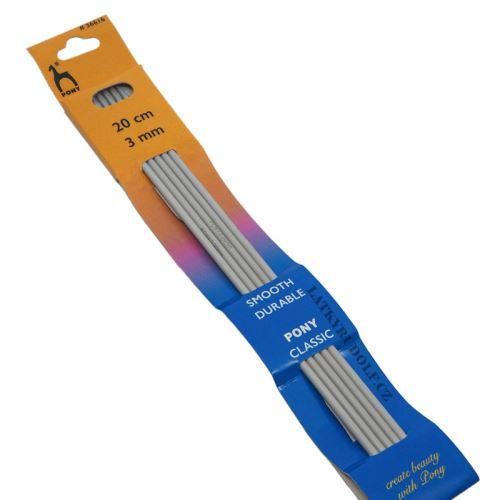 Jehlice ponožkové kovové vel.3, 20cm