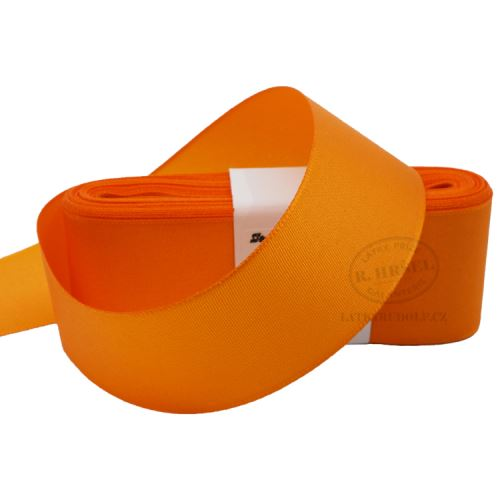 Stuha taftová šíře 40mm 30617-oranžová, 10m