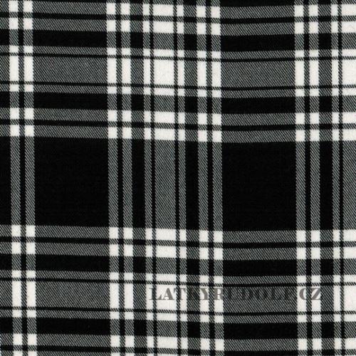 Látka Kostýmová černobílá kostka 167102