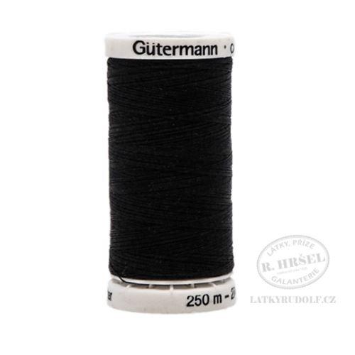 Nit Gütermann Allesnäher 250m barva č.000-černá