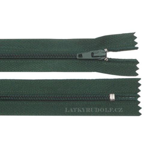 Zip spirálový 3mm nedělitelný 12cm 264K-tm.zelená