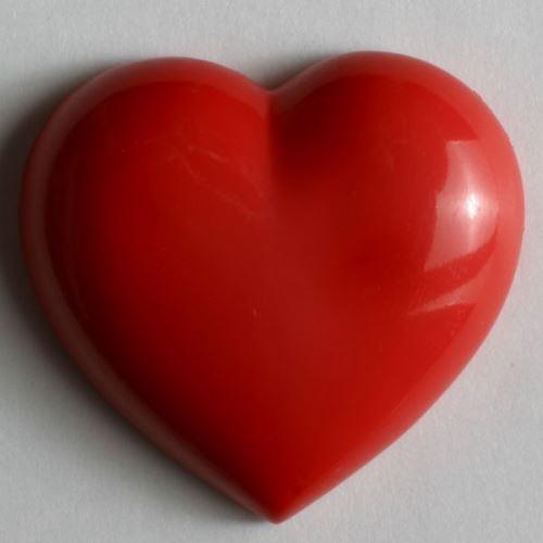 Knoflík Dill srdce červené 14mm 210733