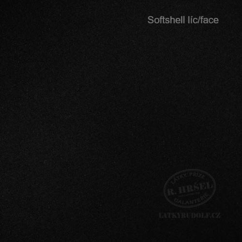 Látka Softshell zimní černý 166001