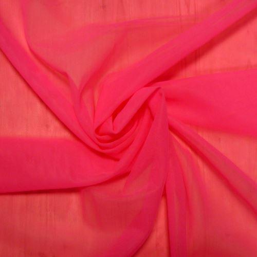 Látka Šifon polyamidový reflexní růžová 173144