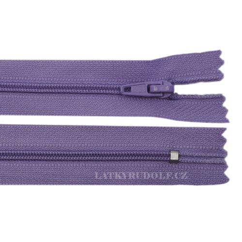 Zip spirálový 3mm nedělitelný 45cm 166L-levandulová