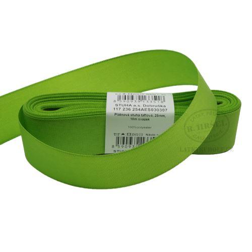 Stuha taftová šíře 25mm 30307-jarní zeleň