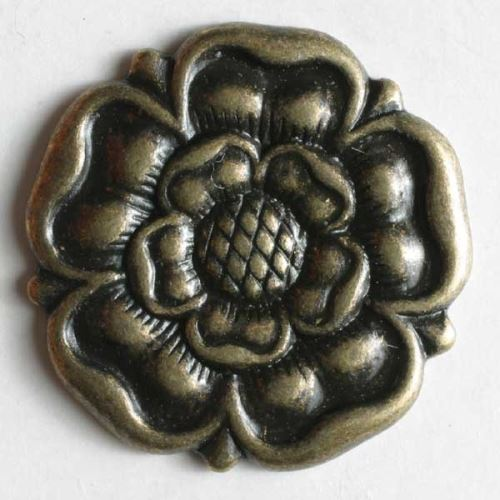 Knoflík Dill 18mm staromosaz růže