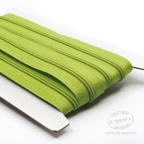 Zip spirálový v metráži 3mm 234-zelený, zesílený