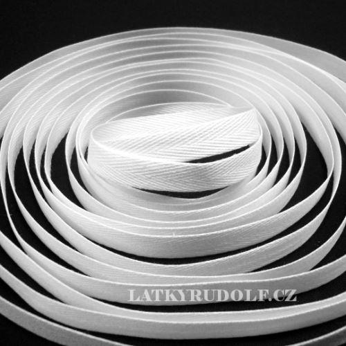 Keprovka - tkaloun šíře 10mm 1101-bílá