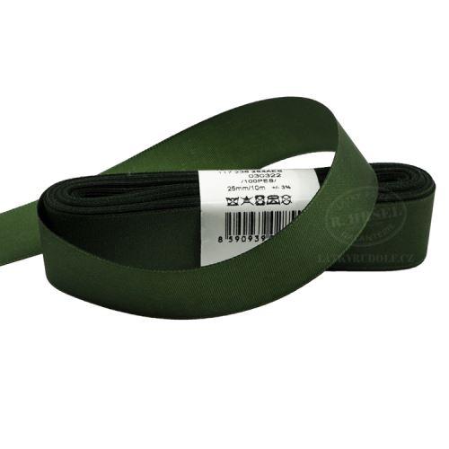 Stuha taftová šíře 25mm 30322-olivová zeleň, 10m