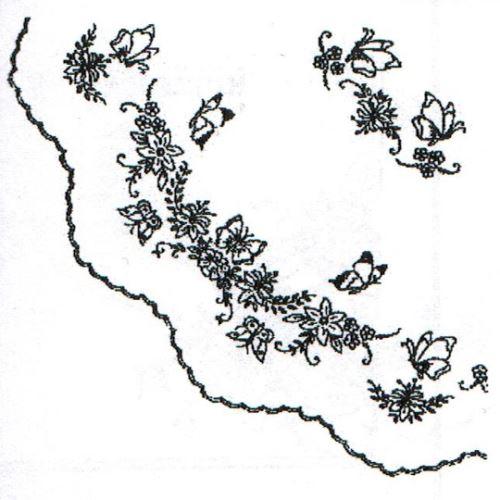 Ubrus 110x110cm motýli-19