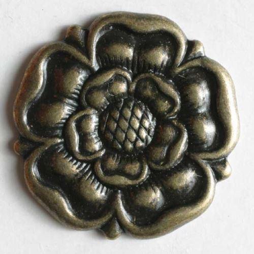 Knoflík Dill 23mm růže staromosaz 260834