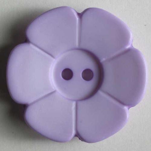Knoflík Dill 15mm kytička fialová 219087