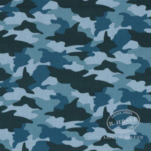 Látka Maskáč army 2B modrý 103482