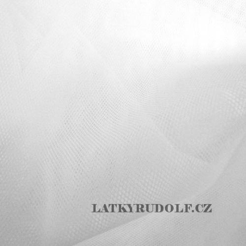 Látka Tyl odevný stredne silný biely 171101
