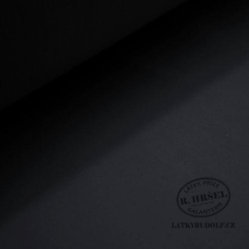 Vlizelín zažehlovací tkaný strečový černý 42g 181122