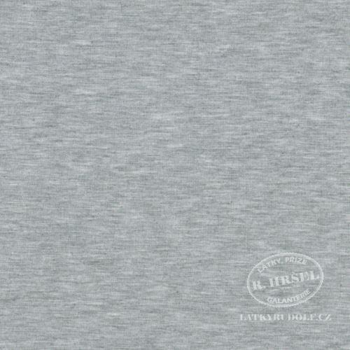 Látka Viskózový úplet 225g světle šedý melír 169261