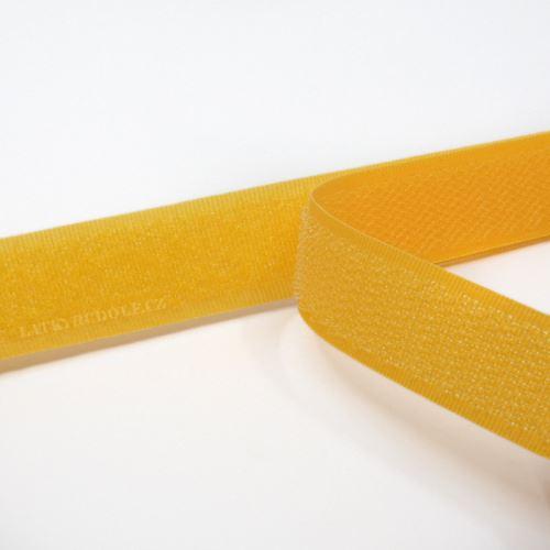 Suchý zip 20mm žlutooranžový