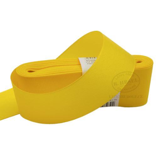 Stuha taftová šíře 40mm 30207-kanárkově žlutá, 10m