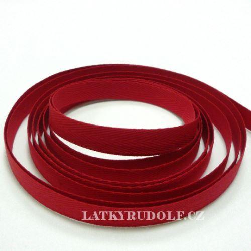 Keprovka - tkaloun šíře 10mm 7568-červená