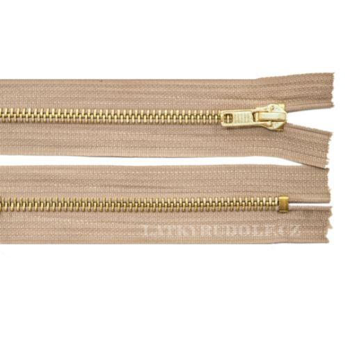 Zip mosazný 6mm nedělitelný riflový 20cm 1812K-béžová