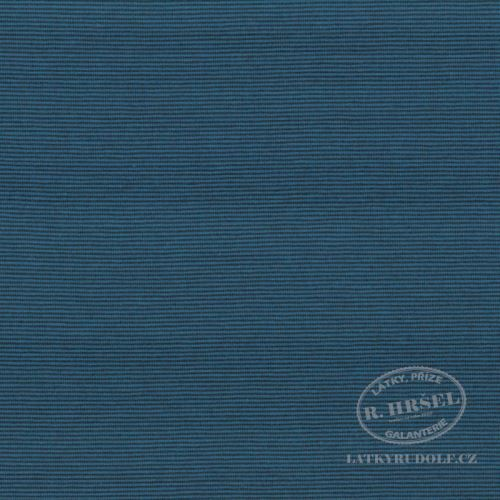 Látka Bavlněný úplet proužek 1mm modrý 149376