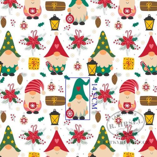 Látka Vánoční skřítci 103590